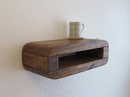 493 : Floating minimalist nightstand mid century retro