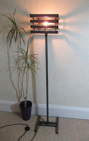 vintage industrial standard lamp.JPG