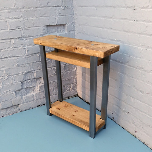 319: Console table with shelf to base contemporary style rustic industrial