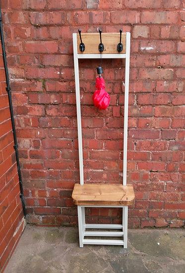 Narrow hallway Coat stand with seat & shoe storage bijou coat rack various