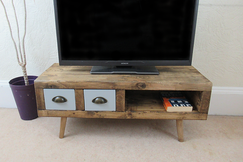 580 - Tv stand contemporary style with two drawers