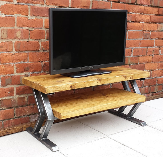 187: Tv stand with Chevron designed base