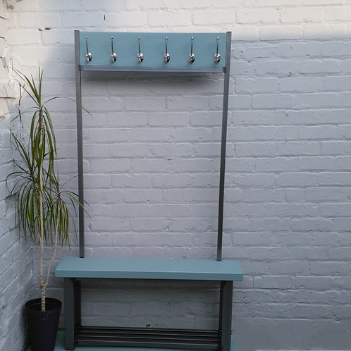 302: Large contemporary coat stand with bench sea
