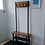 Thumbnail: 321: Coat stand with bench seat & double shelf shoe storage