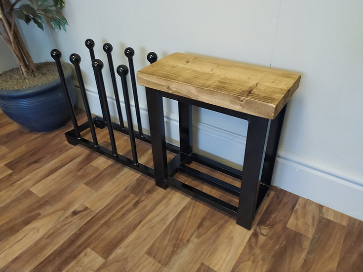 618 :  Welly boot storage rack,  hallway bench