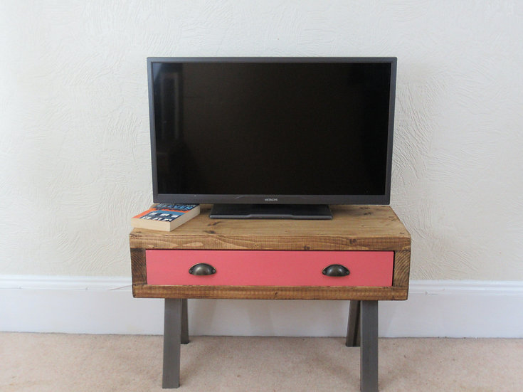 495 - Tv stand with storage, tv unit, contemporary tv cabinet with drawer