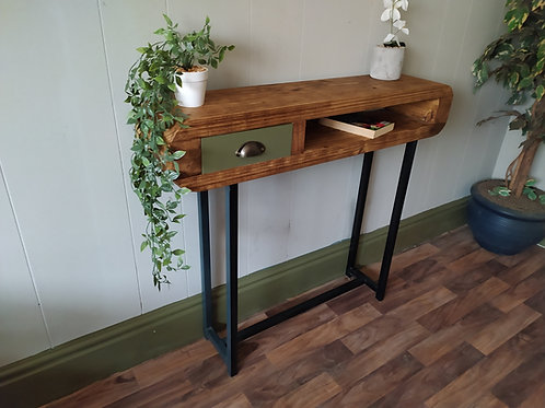 497 : Console table with small drawer and black frame