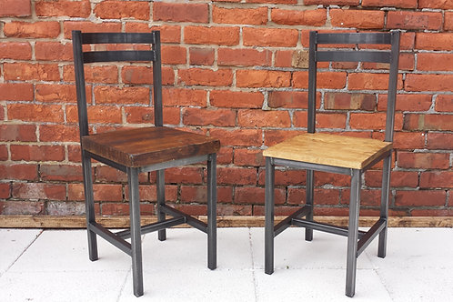 205: Dining chair rustic industrial kitchen chairs