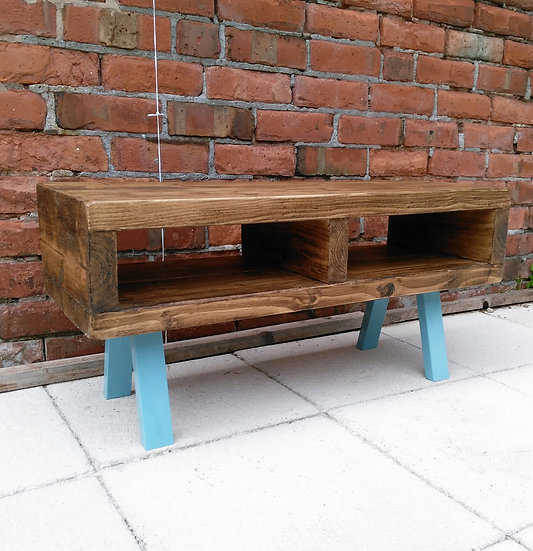 249: Contemporary tv stand legs in a light Blue