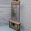 Thumbnail: 299: Hallway coat stand freestanding hat & coat rack with barometer