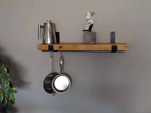 646 : Rustic shelves, shelf with brackets rustic wood shelve