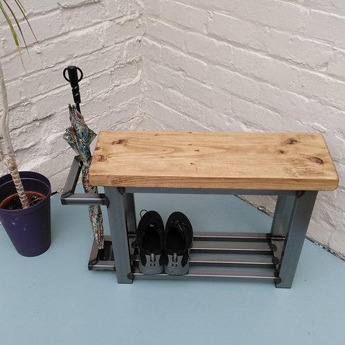 199 - Hallway bench shoe storage  & umbrella stand