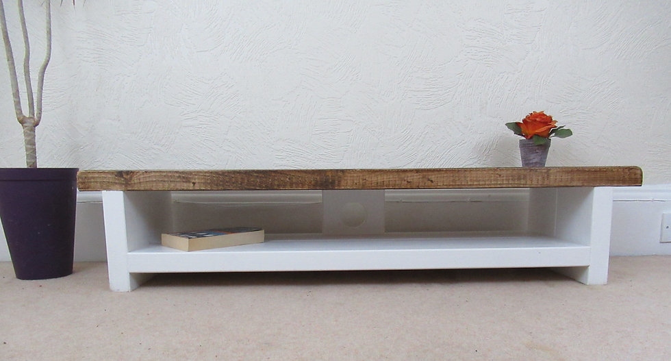 102 - Very low rustic tv stand
