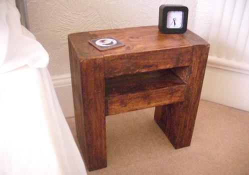 198 slim side table bedside table rustic wood home. Black Bedroom Furniture Sets. Home Design Ideas