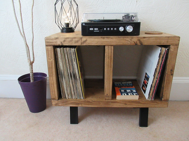 572 :  Vinyl record storage, mid century, LP storage, tv stand