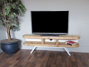 danish style tv stand enclosed back whit