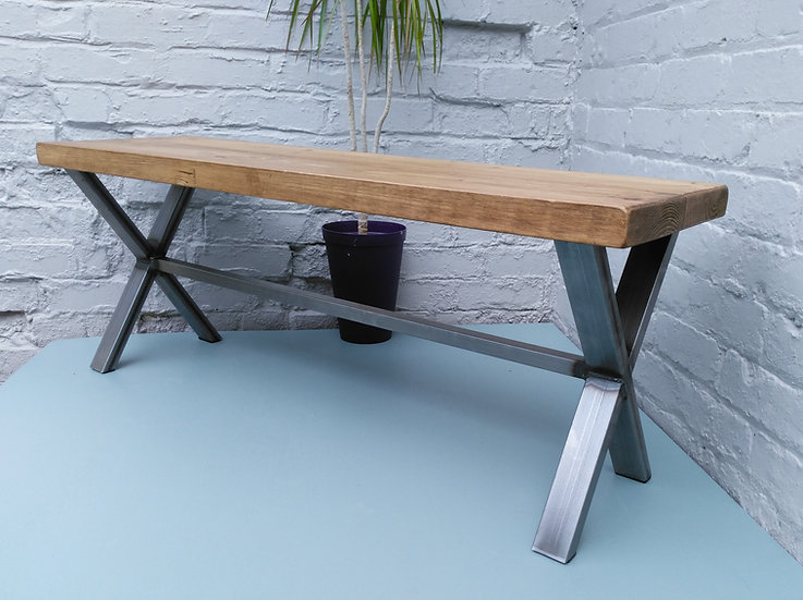 235: X frame bench with deeper seat