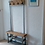 Thumbnail: 310: Coat stand with bench seat & double shelf shoe storage