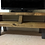 Thumbnail: 569: Tv stand with sloping front, rustic tv unit