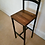 Thumbnail: 193: Bar stool / chair rustic industrial bar stool