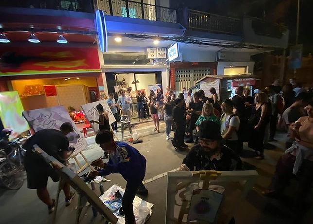 Art street live painting