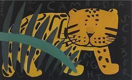 Live painting Leopard