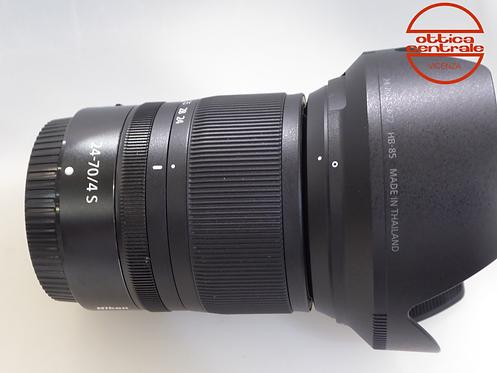 Obiettivo Nikon Z 24-70 4.4, prodotto fotografico usato