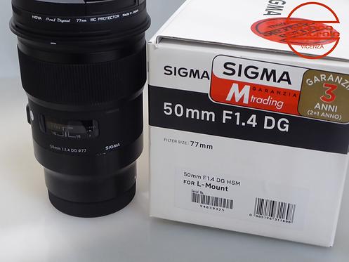 Obiettivo Sigma 50 1,4 DG attacco L
