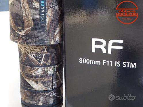 Obiettivo Canon RF 800 f 11, prodotto fotografico usato