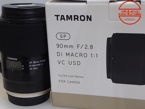 Obiettivo Tamron  90 2,8 DI MACRO VC USD per Canon
