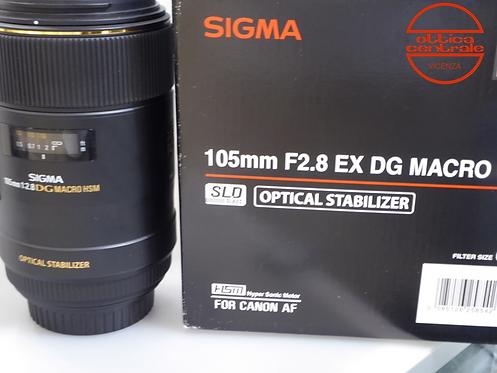 Obiettivo Sigma 105 mm f2.8 DG MACRO HSM per Canon