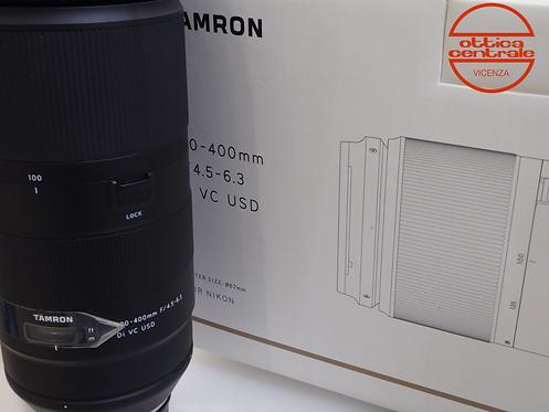Obiettivo Tamron 100-400 4.5-6.3 DI VC USD per Nikon