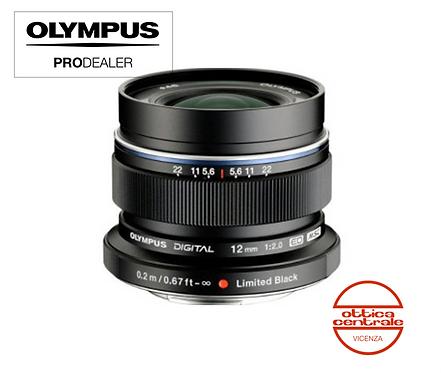 Obiettivo Olympus 12 mm f2.0