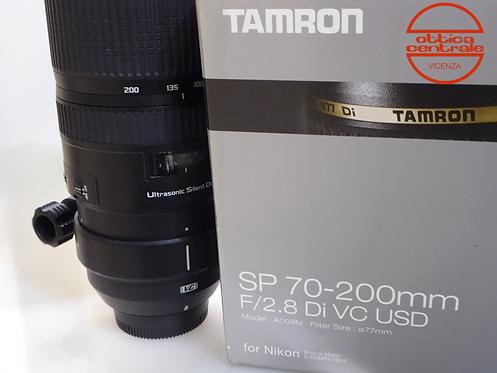 Obiettivo Tamron SP 70-200 2,8 per Nikon