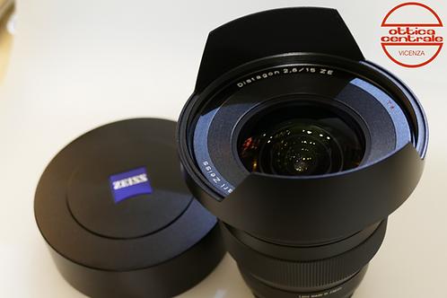Obiettivo Zeiss DISTAGON 15mm f/2,8 per Canon