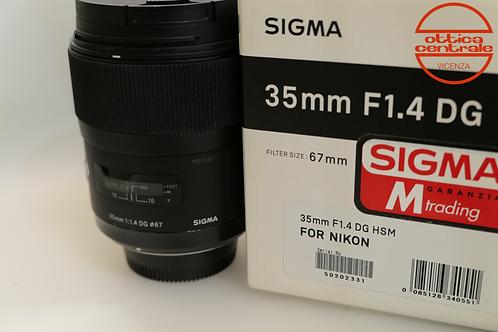 Obiettivo Sigma 35 1,4 ART per Nikon