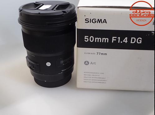 Obiettivo Sigma  50 1.4 ART per Canon, prodotto fotografico usato
