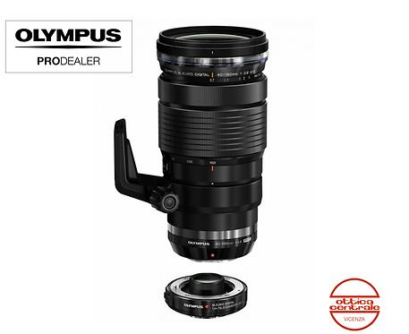 Obiettivo Olympus 40-150 mm + mc 1,4x