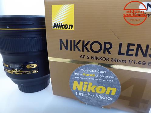 Obiettivo Nikon AF-S 24 14 G ED, prodotto fotografico usato