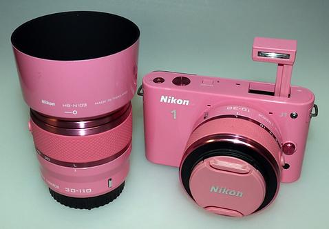 Fotocamera Nikon J1 + Obiettivo Nikon 10-30 mm + Obiettivo Nikon30-110 mm DEMO