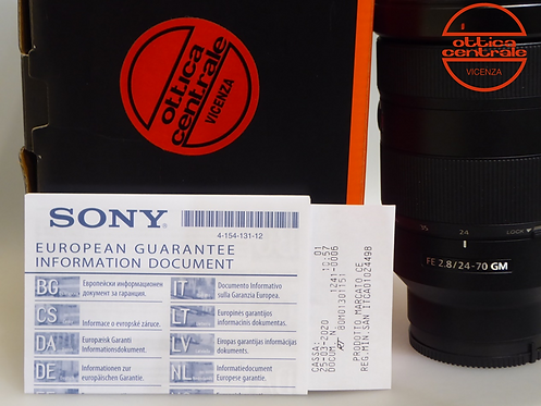 Obiettivo Sony FE 24-70 mm f2,8 GM
