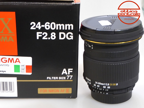Obiettivo Sigma 24-60 mm 2,8 EX DG D USATO per Nikon