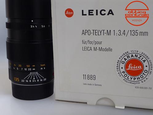 Obiettivo LEICA APO-TELYT-M 135/3.4, prodotto fotografico usato
