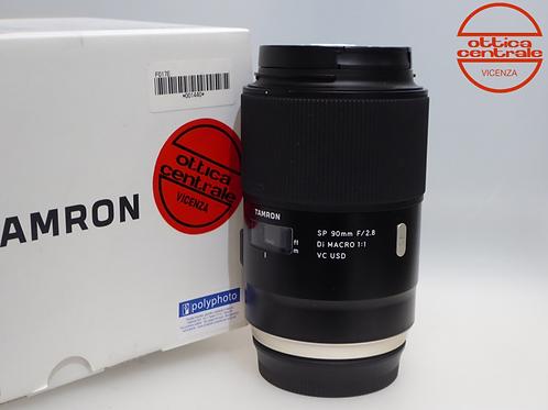 Obiettivo Tamron 90 mm SP MACRO VC USD, prodotto fotografico usato