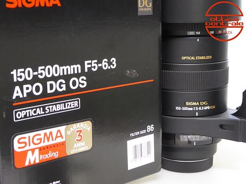 Obiettivo Sigma 150-500 mm f/5,0-6,3 APO HSM DG OS per Canon