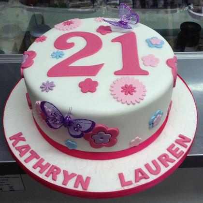 21st Flowery Birthday Cake.jpg