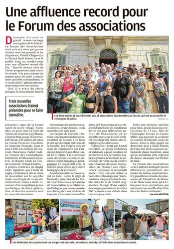 Forum des Association 2019 à Ceyreste