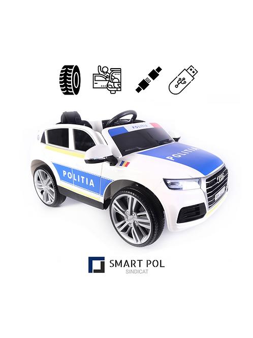 Masina electrica Audi Q5 SUV cu telecomanda Politia