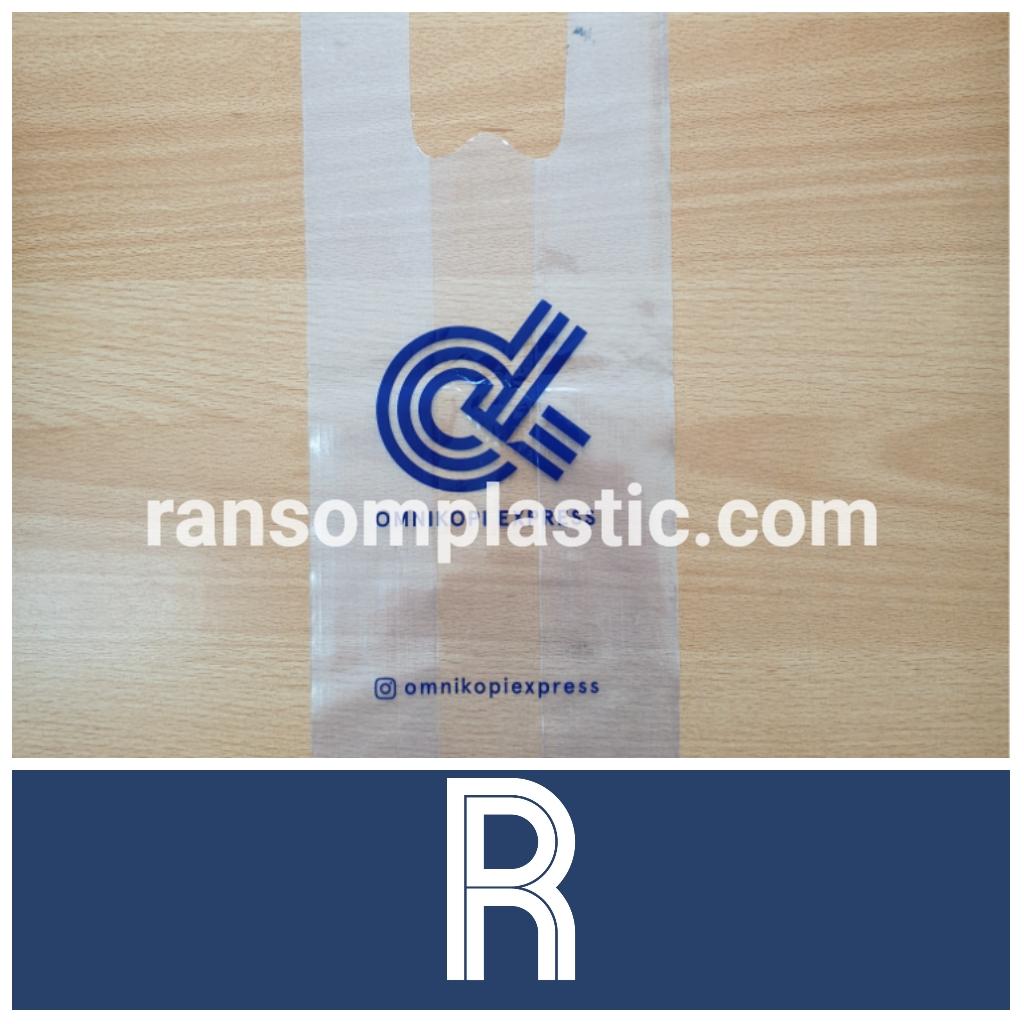 Sablon 1 warna kantong plastik PE kresek