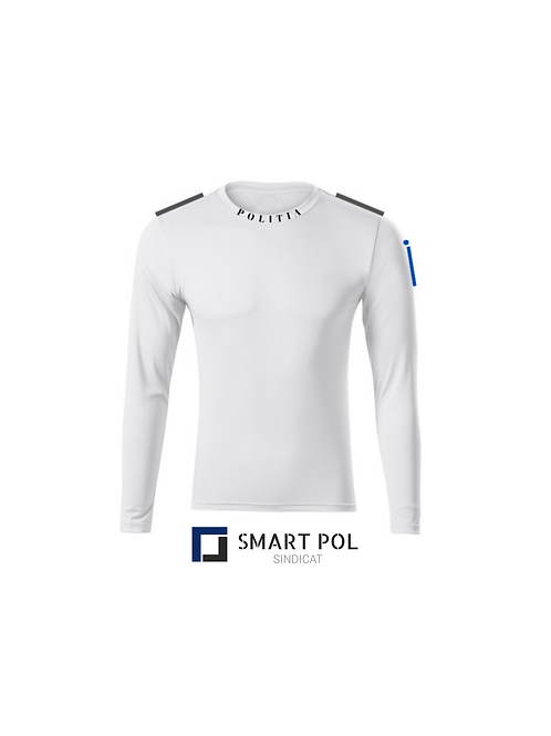 Tricou Basic Poliția Alb ML